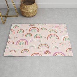 Colorful rainbows magic dreams kawaii sky kids Rug
