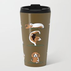 Beagle Yoga Metal Travel Mug