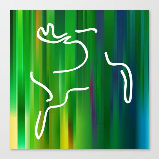 Flying deer Canvas Print