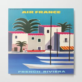 Vintage poster - French Riviera Metal Print