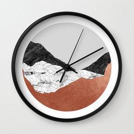 Copper Geometric III Wall Clock