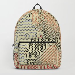 Hedgehog geometric pattern portrait of Childish Gambino Backpack