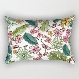 Botanical joy on white Rectangular Pillow