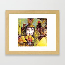 Fruit Hats and Feathers Framed Art Print