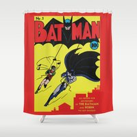 comic Shower Curtains featuring Comic 1 by Beastie Toyz