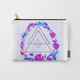 Geometric floral wreath Carry-All Pouch