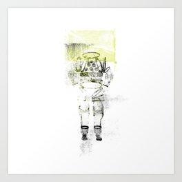 Messager de l'espace Art Print
