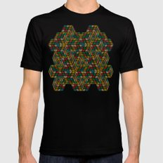 Rubik in optical illusion (structure and pattern) Mens Fitted Tee MEDIUM Black