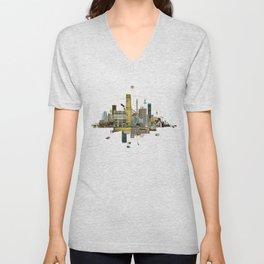 Collage City Mix 8 Unisex V-Neck
