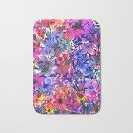 Colorful Poppy Garden Bath Mat