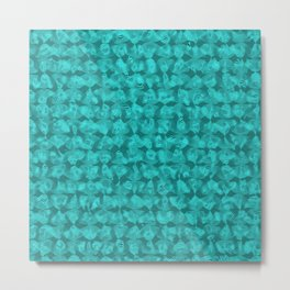 spirales aquamarine Metal Print