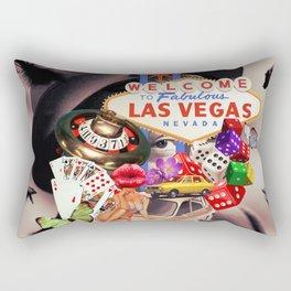 Las Vegas Maniac Rectangular Pillow