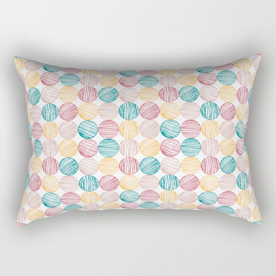 Scrawled Polka Dots Rectangular Pillow