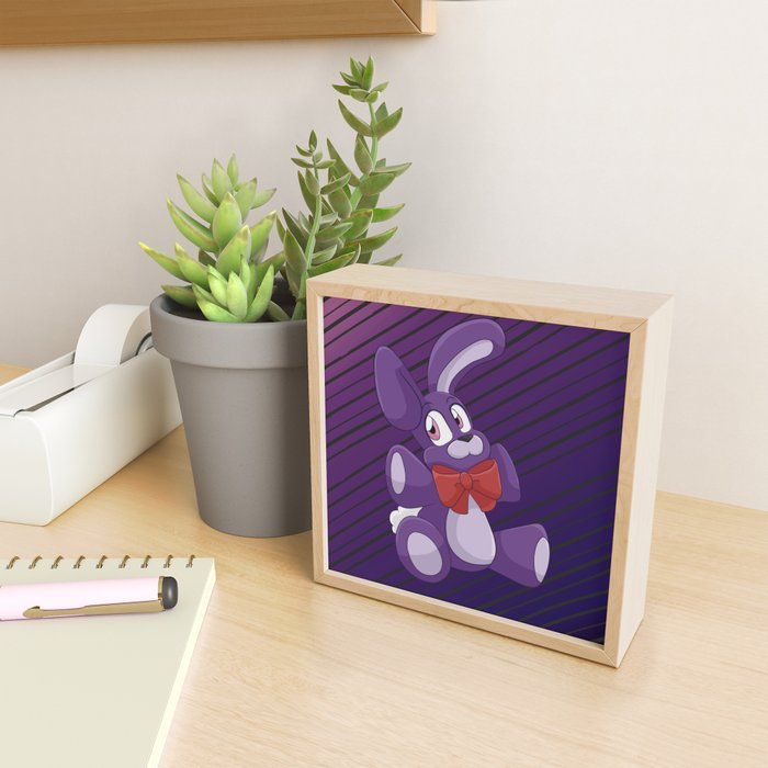 Bonnie Plushie Framed Mini Art Print