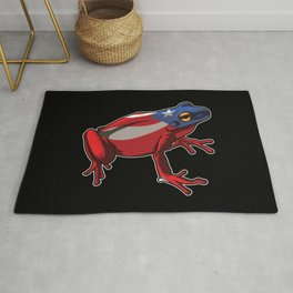Puerto Rico Frog Coqui | Proud Boricua Flag Rug