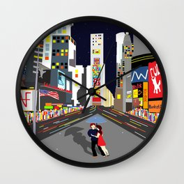 Lovers at Times Square Wall Clock
