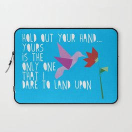 Hummingbird - The Weepies Lyrics Laptop Sleeve