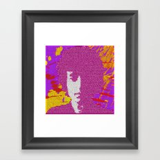 Bob Dylan wins 2016 Nobel Prize in Literature for his songwriting Framed Art Print