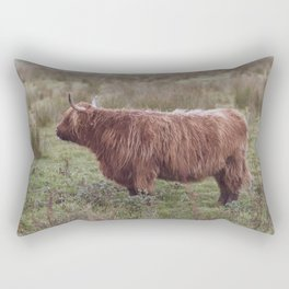 Vintage Scottish cow - Thurso, The Highlands, Scotland Rectangular Pillow