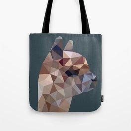 Geometric Alpaca Teddy Tote Bag