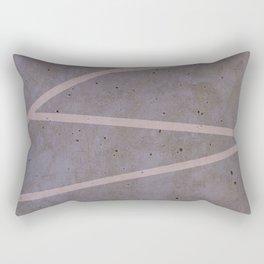 Geometric Pink Concrete Rectangular Pillow