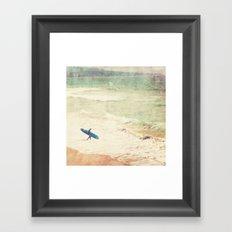 Margin Walker. surfer photograph Hermosa Beach Framed Art Print