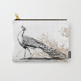 Peacock print Carry-All Pouch
