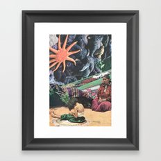 Hollow Sound Of The Morning Chimes Framed Art Print
