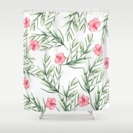 Delicate Hibiscus Shower Curtain