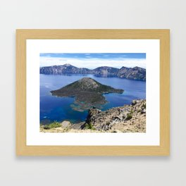 Wizard Island - Crater Lake National Park Framed Art Print