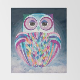 Shanti Sparrow: Luna the Owl Throw Blanket