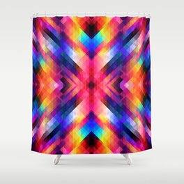 PSYCHO GEOMETRY Shower Curtain