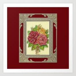 Bunch of Roses red design Art Print