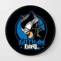 gotham Wall Clocks featuring Gotham Girl by Buby87