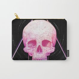 Skull in triangle on black Carry-All Pouch