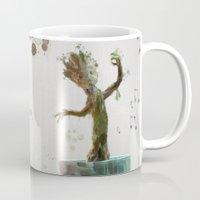 groot Mugs featuring Baby Groot by Scofield Designs