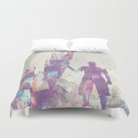surfboard Duvet Covers featuring Explorers III by HappyMelvin