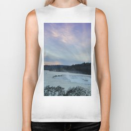 A CHILLY WINTER WILLAMETTE FALLS SUNSET Biker Tank