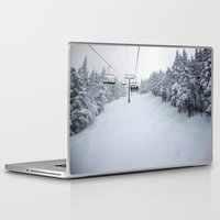 skiing Laptop & iPad Skins featuring Skiing Vermont by BACK to THE ROOTS