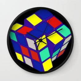 Rubik's Cube Pop Art Wall Clock