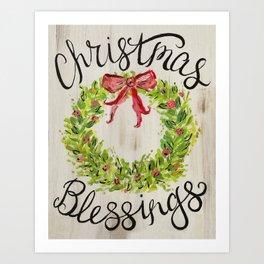 Christmas Blessings Art Print