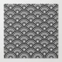 BLACK AND WHITE GEOMETRIC (abstract) by absentisdesigns