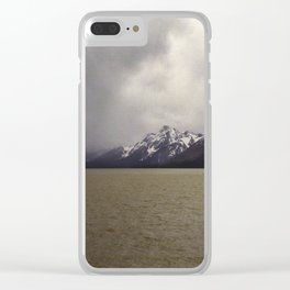Mountain, Lake, Storm Clear iPhone Case