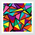 Abstract bright multicolored geometric pattern . 4 . by fuzzyfox85