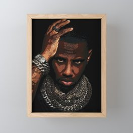 𝐇.𝕋.Ǥ.b.ㄚ. Heavy Hand On Head - Jewelry Iced Out Diamond Chains Fabolous Rap Hip Hop S6 Framed Mini Art Print