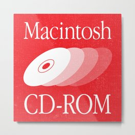 Obsolete Product Sticker — Macintosh CD-ROM Metal Print