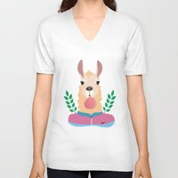 sport V-neck T-shirts featuring Sport Lama by Holanes