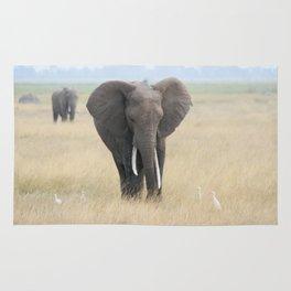 elephants and egrets Rug