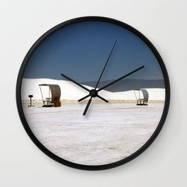 Picknick At White Sands Wall Clock