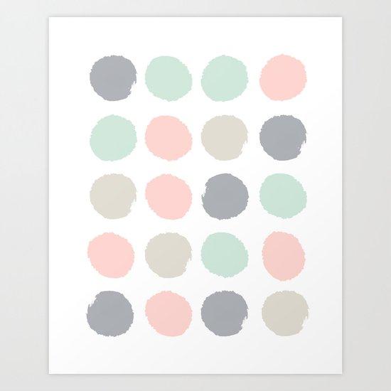Hayes - minimal dots gender neutral baby modern nursery art decor trendy Art Print